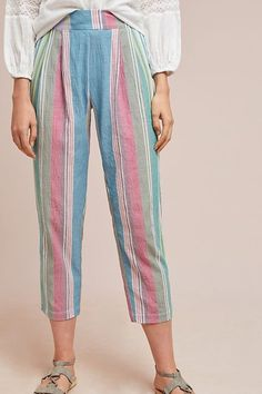 Rainbow Striped Pants | Anthropologie