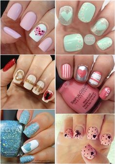 Cute Heart Nail Art Design Pictures :)