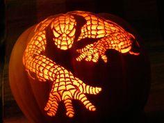 Spiderman Halloween Pumpkin
