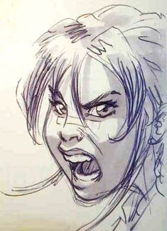 angry woman face drawing1
