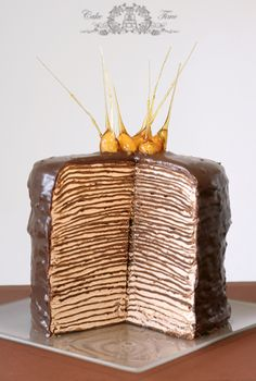 Amazing cake composed of Nutella and crepes. One day, Kristi Greenstreet Hansen, one day.