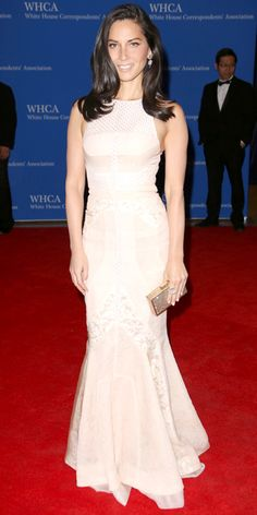 The Most Beautiful Dresses Worn to the 2014 White House Correspondents' Dinner - Olivia Munn from #InStyle