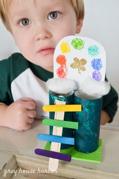 18 Leprechaun Traps To Capture Your Kids' Imaginations St Patricks Day Crafts For Kids, St Patrick's Day Crafts, Holiday Crafts For Kids, Holiday Fun, Craft Stick Crafts, Preschool Crafts, Kids Crafts, Craft Sticks, Craft Ideas