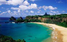 Ilha de Fernando de Noronha, Recife, Pernanbuco - Brasil - Oceano Atlântico.