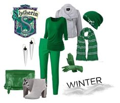 """""""Winter Slytherin"""" by adelinejaned on Polyvore featuring Dolce&Gabbana, La Marque, Latico, Circus By Sam Edelman, Keds and Alexis Bittar"""