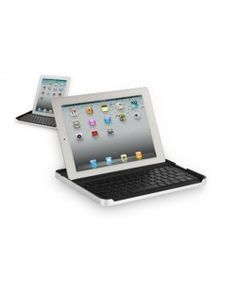 WAS $99.99 NOW $39.99!! The Logitech Zagg Keyboard Case for iPad 2 with Built-In Keyboard and Stand is just the thing to accessorize your iPad 2 tablet. Precision-cut from aircraft grade aluminum, the Logitech Keyboard Case features a Bluetooth keyboard with an internal rechargeable battery. Lined with high-density padding, the Zagg Keyboard Case offers the functionality of a keyboard with all the protection of a case.