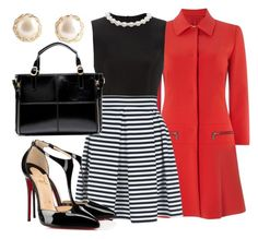 """""""Black and red"""" by thecupcakeone on Polyvore featuring Pennyblack, Simone Rocha, Jane Norman and Christian Louboutin"""