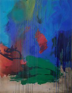 Première peinture d'une série de plusieurs œuvres sur la notion de paysage abstrait dans la peinture contemporaine Les Oeuvres, Painting, Art, Abstract Landscape, Toile, Art Background, Painting Art, Kunst, Paintings
