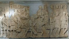 Wk 11 Chariot Procession, marble attic relief, Arch of Septimius Severus, Lepcis Magna, Libya, 203