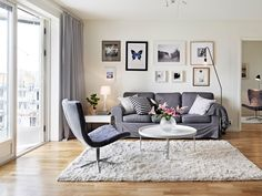 Scandinavian design. Living room.