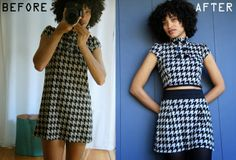 FALL FASHION REPURPOSED: Crop top and high-waisted skirt DIY