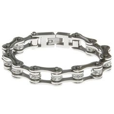 All Silver Bike Chain Bracelet on Labor Day Sale 2014