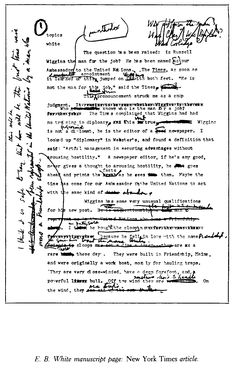 The Art of the Essay No. 1 Manuscript E.B. White