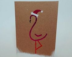 Greetings cards handmade in Glasgow. by GlasgowKissGreetings Handmade Items, Handmade Gifts, Greeting Cards Handmade, Glasgow, Handmade Christmas, Marketing And Advertising, Flamingo, How To Draw Hands, Christmas Cards
