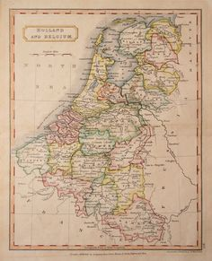 Map Holland and Belgium 1860 Vintage Maps, Antique Maps, Early World Maps, Holland Map, Geography Map, Classical Antiquity, Map Globe, Historical Maps, Old Maps