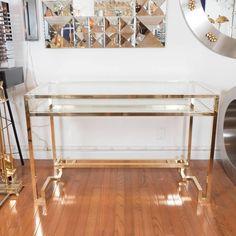 Stylized Brass Desk 2