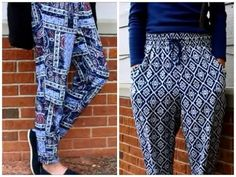 Harem Pants - Aladdin Trousers - Afgani Style - YouTube