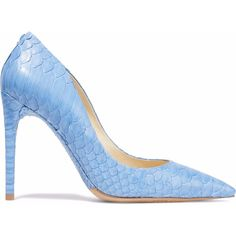 Alexandre Birman Python pumps ($391) ❤ liked on Polyvore featuring shoes, pumps, light blue, snake print pumps, light blue shoes, pointy toe shoes, pointed toe shoes and alexandre birman