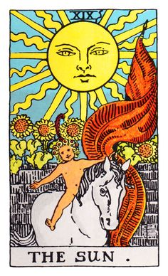 Sun Tarot Card Where exactly does the information come from when somebody reads your cards? Lana knows at www.beyondhereandnow.com