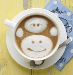 Quick monkeying around and find out how you can make your own easy latte art here!