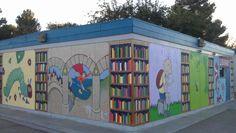 """Favorite Children's Books""  (literature-themed mural)"