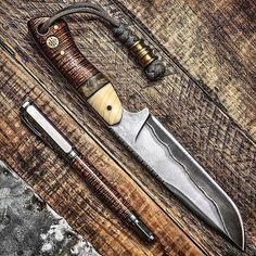 @knifetography: San Mai 'Ol Rusty by @biltsharp Koa Fountain Pen by @highcalibercraftsman - Follow us: @ExclusiveStangs @Motorhead @SomeUtahn @BadassMedia @BadassMachines @Daily_Badass - #everydaycarry #fixedblade #flipper #knifeporn ##usnstagram #usnstagram #bestknivesofig #knives #knife #grailknife #edcknives #knifefanatics #knifegasm #edc #everydaydump #pocketdump #photography #bokehlicious #bokehkillers #knife #grailknife #knifenut #knifecommunity #knifecollection Survival Knife, News, Design, Rescue Knife