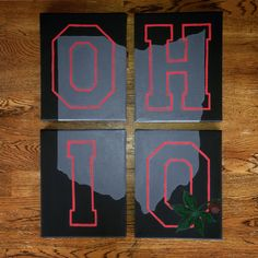 4 piece Ohio State canvas