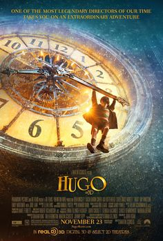 Directed by Martin Scorsese. With Asa Butterfield, Chloë Grace Moretz, Christopher Lee, Ben Kingsley. In Paris in an orphan named Hugo Cabret who lives in the walls of a train station is wrapped up in a mystery involving his late father and an automaton. Martin Scorsese, Sacha Baron Cohen, Love Movie, Movie Tv, Movie Titles, Movie Theater, Movies Showing, Movies And Tv Shows, Hugo Movie