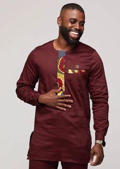 Lekan Men& African Print Traditional Shirt Dress (Yellow Blue Multi-p – D. Modern African Clothing, African Print Clothing, African Men Fashion, South African Traditional Dresses, Mens Traditional Wear, African Attire, African Wear, African Suits, Nigerian Outfits