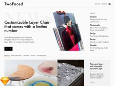 TwoFaced – Magazine Website Template