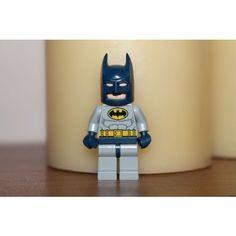 Lego Batman Mini Figure Dark Blue Mask Grey Suit