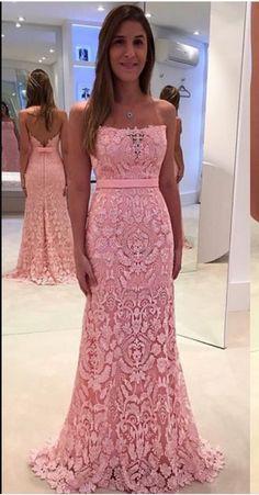 Sexy Prom Dress, mermaid Prom Dresses,Pink Prom Dress,Lace #prom #promdress #dress #eveningdress #evening #fashion #love #shopping #art #dress #women #mermaid #SEXY #SexyGirl #PromDresses