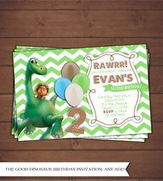 La invitación de buen dinosaurio por CindysEventCreations en Etsy