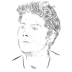 Dylan O'brien #draw #drawing #dylanobrien