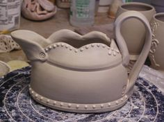Fine Mess Pottery: Tutorial gravy boat