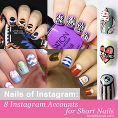 The best Instagram accounts to follow for short nails.