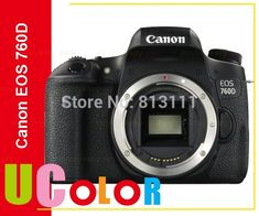Canon 760D Rebel T6s DSLR Camera Body -24.2 MP -1080p Video -Vari-Angle Touchscreen -Built-In Wi-Fi -Top LCD Panel //Price: $713.00//     #onlineshop