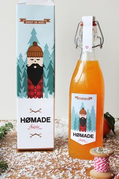Hømade - Sirop de Noël  Sunrise Over Sea© vinslëv© Repinned by www.strobl-kriegner.com #branding #packaging #design #creative #marketing