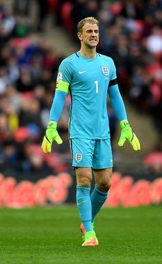 Joe Hart of England looks on during the FIFA 2018 World Cup Qualifier between England and Lithuania at Wembley Stadium on March 26, 2017 in London, England.