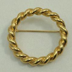 Trifari signed Circle brooch Trifari signed Circle brooch. 1721 trifari Jewelry Brooches
