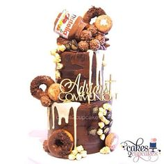 Chocolate nutella donuts drip ganache Ferrero