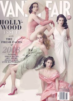 Emily Blunt, Anne Hathaway, Amy Adams and Jessica Biel photographed by Annie Leibovitz for Vanity Fair, March 2008
