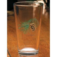 Wild Wings Pinecone Smooth Mixer Glassware Set of 4 / Mosquito Creek Outdoors