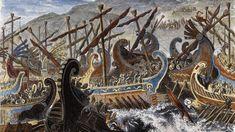 Όταν οι Έλληνες νίκησαν τους Πέρσες στη Σαλαμίνα Carousel, Fair Grounds, History, World, Painting, Art, Art Background, Historia, Painting Art