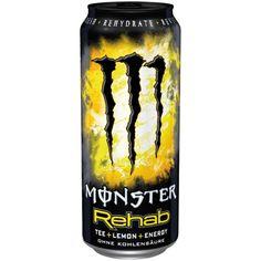 Monster Energy Rehab Lemon 0,5l Monster Energy Drinks, Monster Energy Girls, Healthy Energy Drinks, Monster Drink Flavors, Bebidas Energéticas Monster, Fitness Drink, Monster Pictures, Monster Crafts, Hydrating Drinks