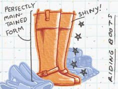 Riding Boots   Every Person At The Party, As Identified By Their Shoes