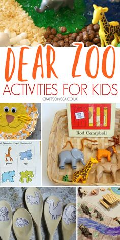 Easy and fun Dear Zoo activities for kids with crafts and story ideas perfect for preschoolers and EYFS Preschool Crafts, Fun Crafts, Dear Zoo Activities, Zoo Animal Crafts, Eyfs, Zoo Animals, Story Ideas, Giraffe, Craft Ideas