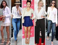 5 maneras de usar camisa blanca...