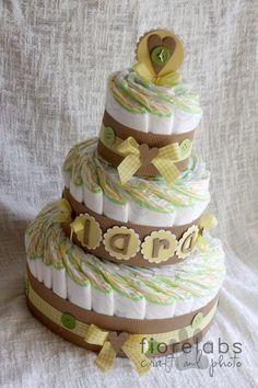 Countrypainting&labrador: Altra torta di pannolini :-)