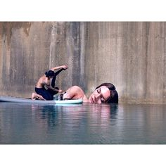 Keeping my head above water... Sean Yoro #Hula by unit44gallery
